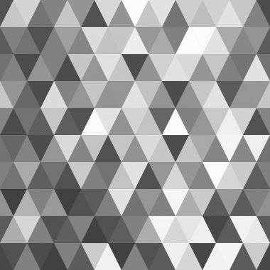 Abstract background of mosaic black and white triangles.