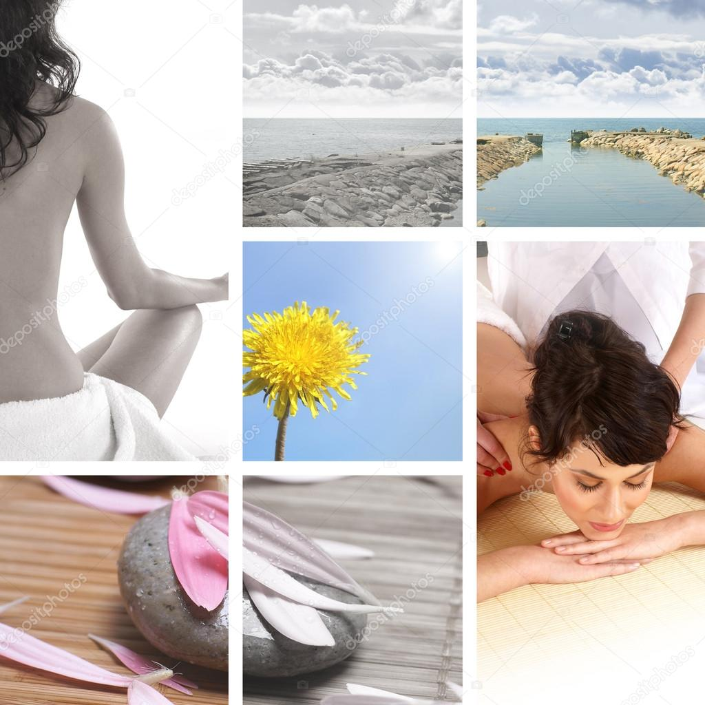 Collage about health and nature