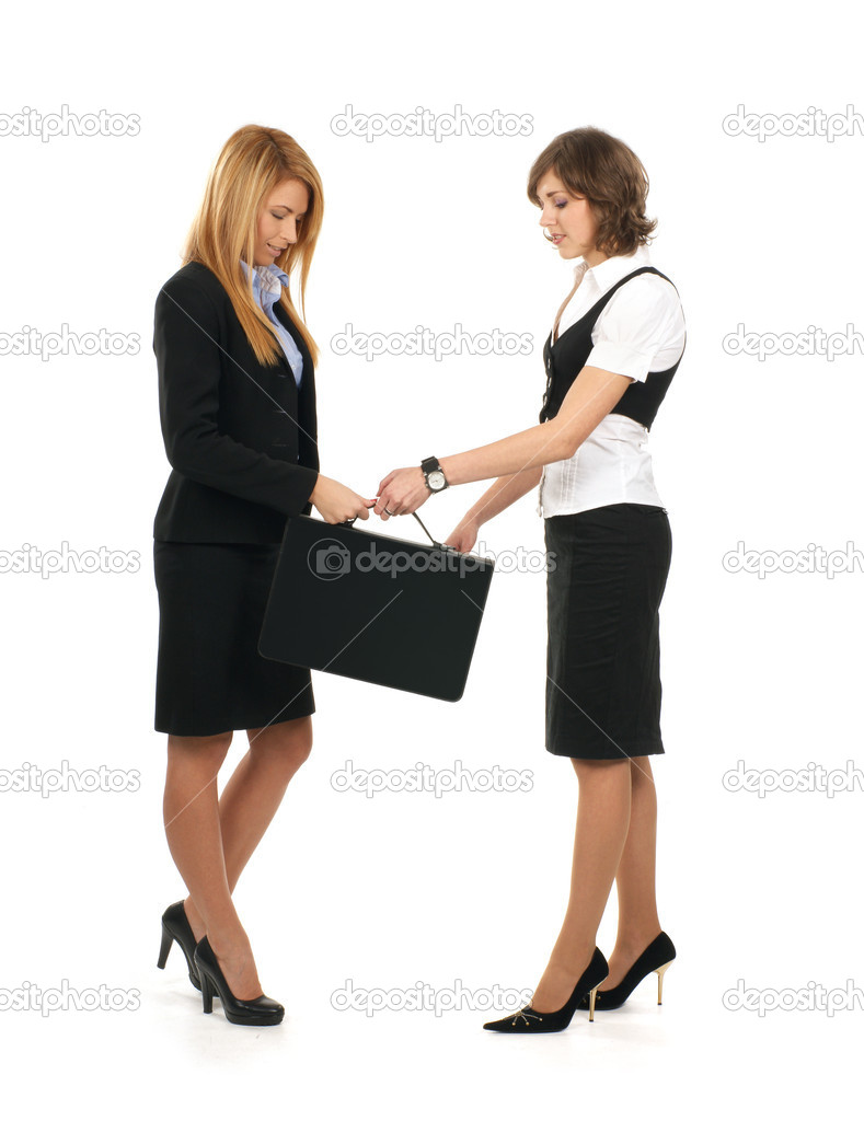 Young and sexy business women — Stock Photo