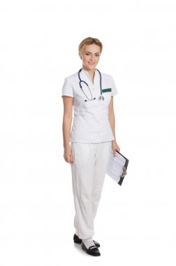 Young attractive medical worker