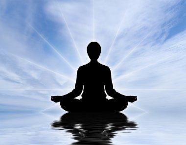 Human meditating