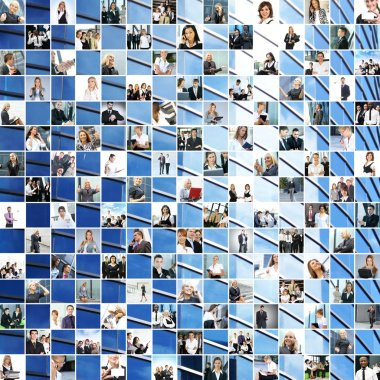 Great business collage made of 225 different pictures and abstract elements.