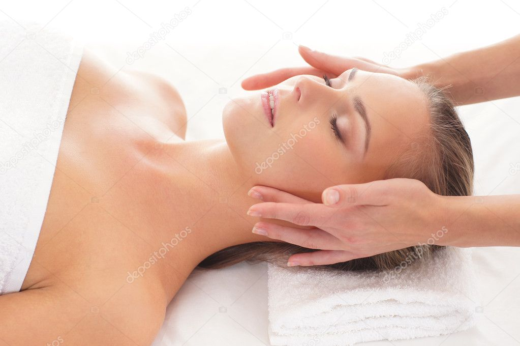 Beautiful healthy woman getting spa treatment