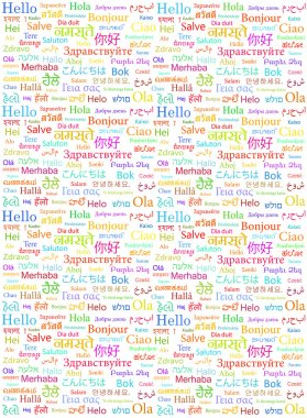 Hello word in different languages