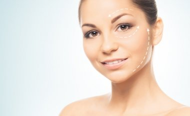 Portrait of a young woman in light makeup