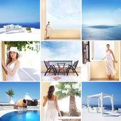Tourist resort in Greece (Santorini island)