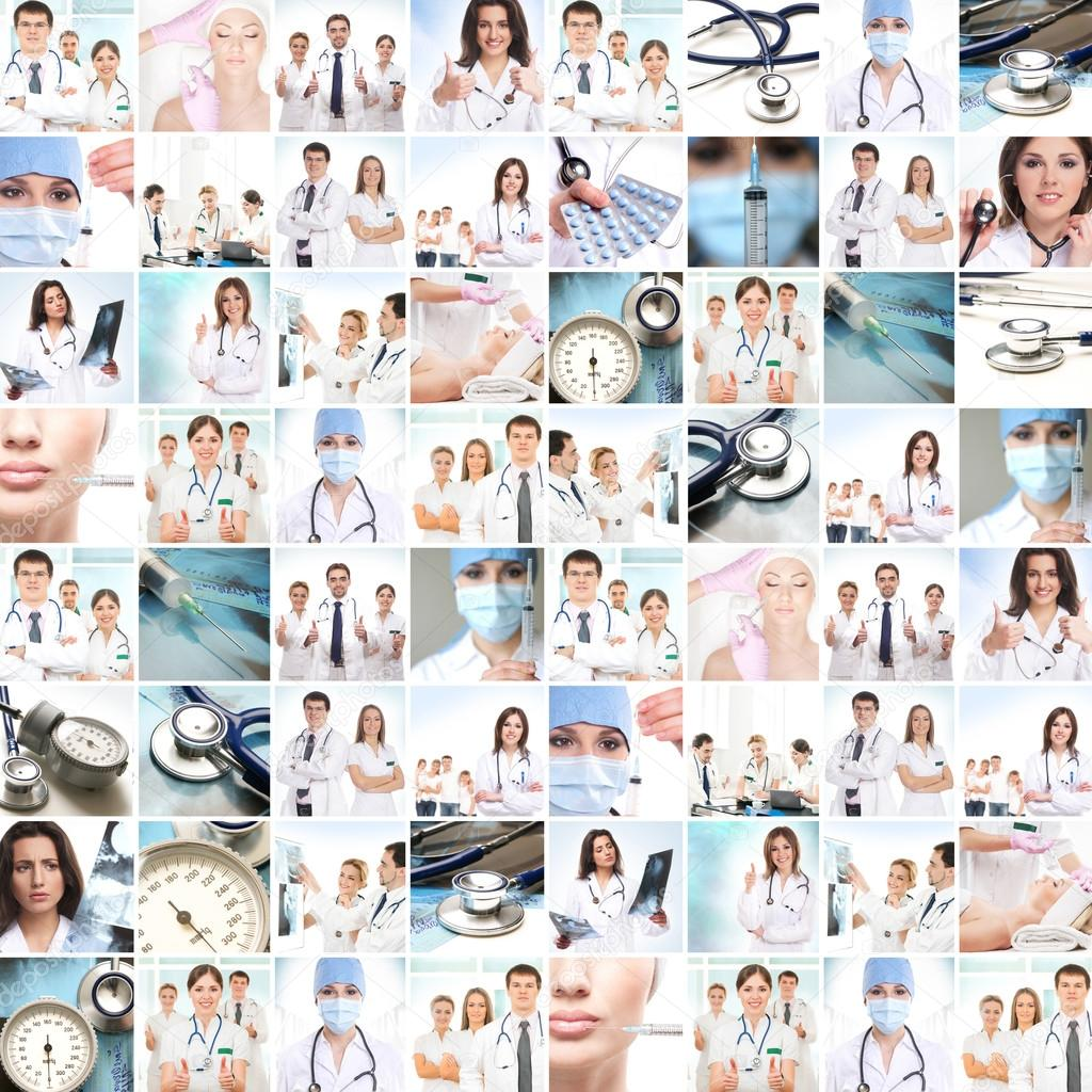 Medical collage.