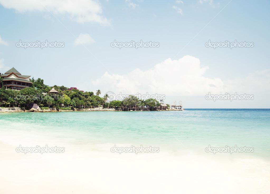 Scenic landscape of a tropical beach