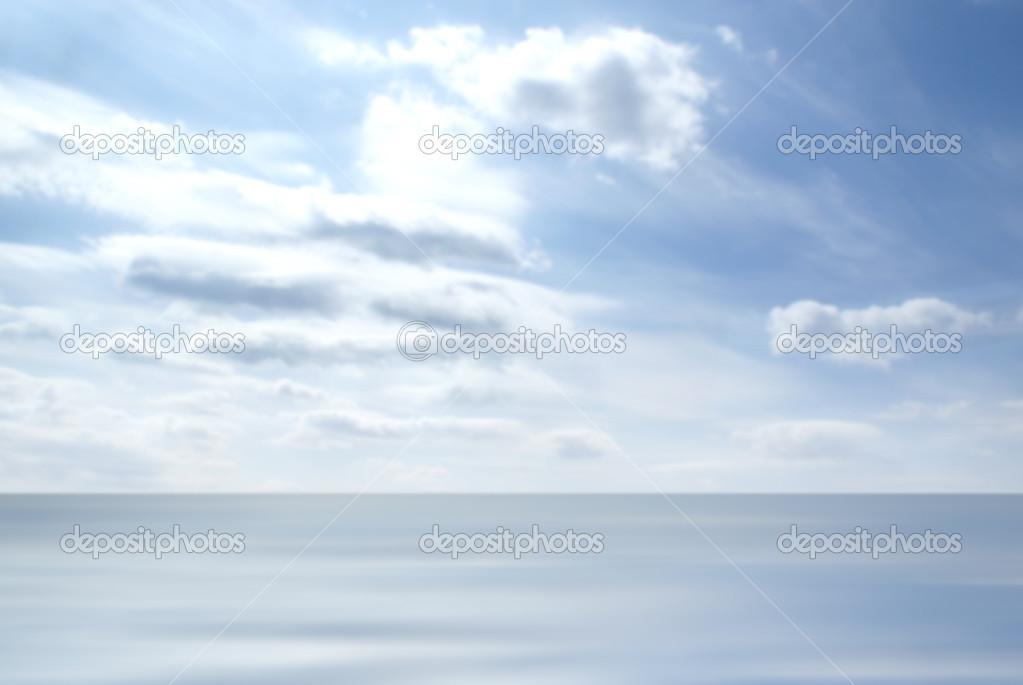 Blue sky and sea landscape