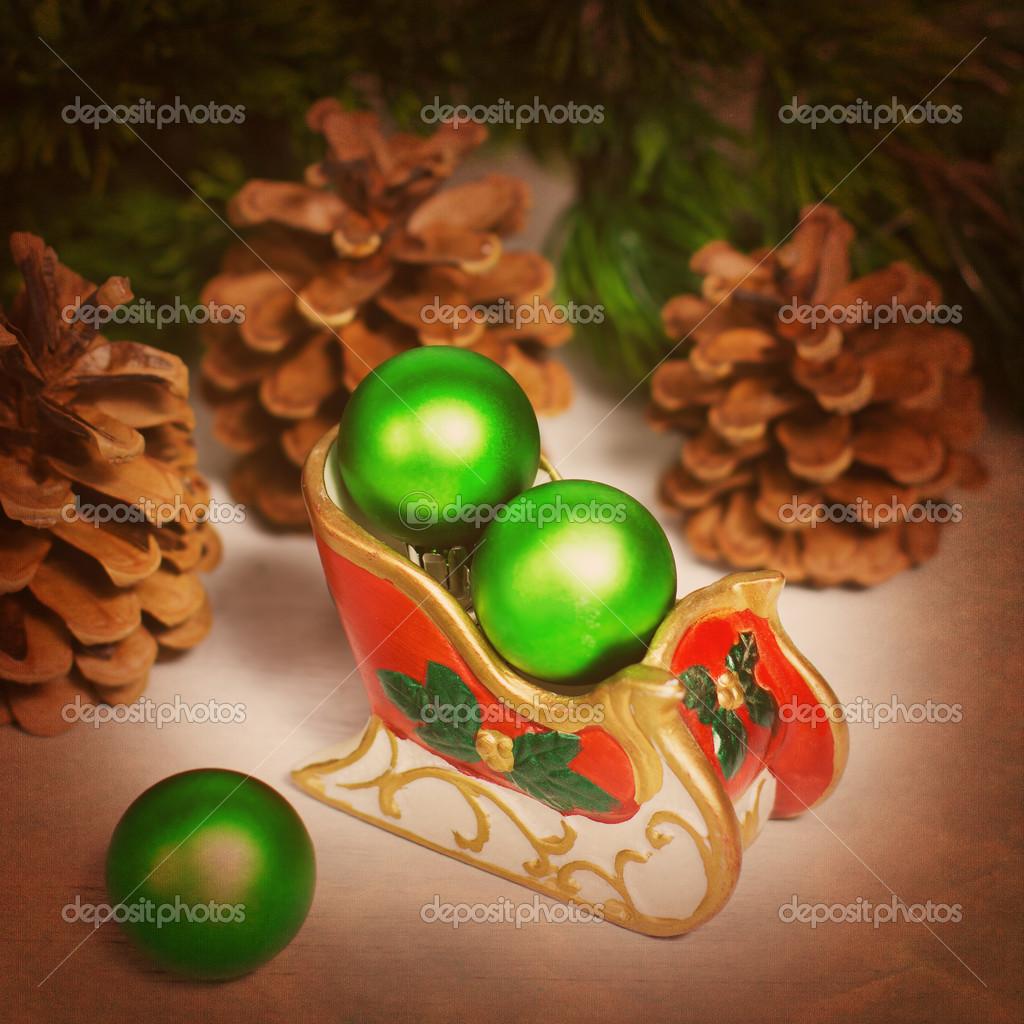 Weihnachts-Schlitten — Stockfoto © dariazu #15429183