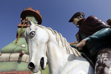 Rapunzel And The Prince With White Horse