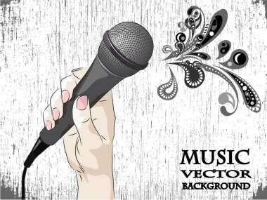 Microphone abstract pattern background