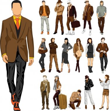 Set of fashion
