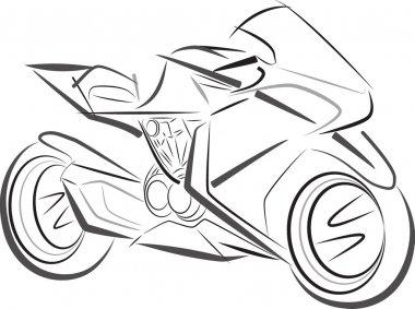 Sport motorbike vector sketch