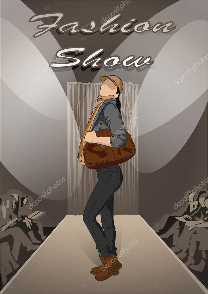 Fashion Man On Fashion Show Background Stock Vector C Sketchmaster
