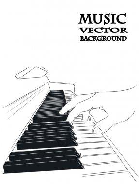 Piano play - vector