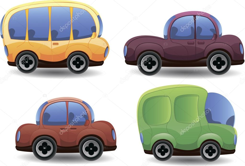 Ilustracion Autos Autos Lindos Dibujos Animados Vector De Stock
