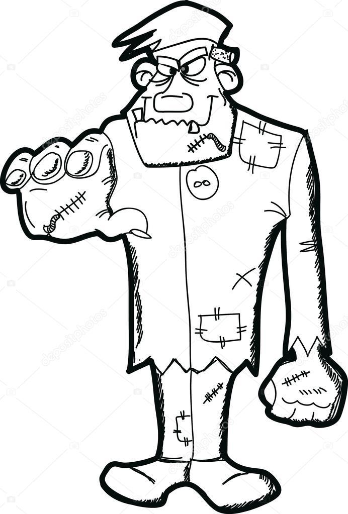 Frankenstein Cartoon Stock Vector