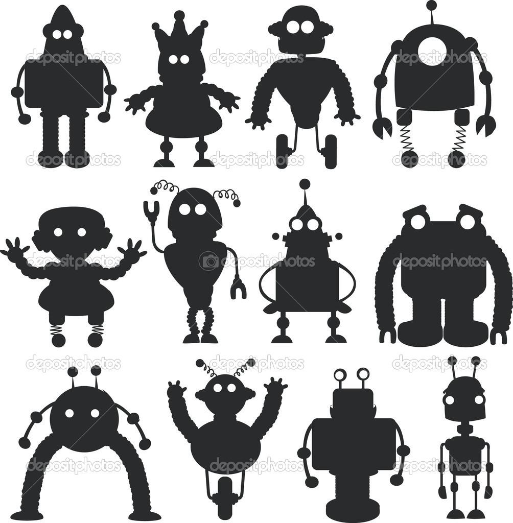 Sfondi illustrazione orrore robot cartone animato incornare