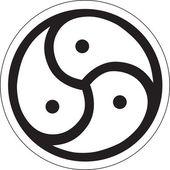 Fotografie heidnischen Symbol - Triskele