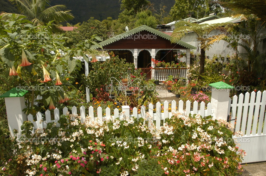 Traditional house at Hell Bourg on La Reunion island