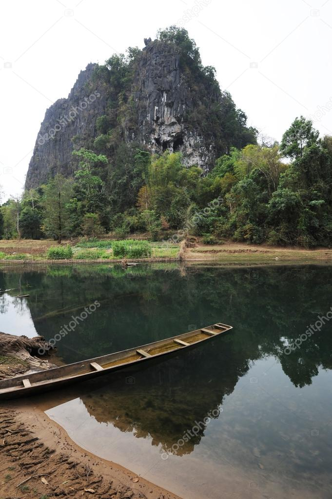 Landscape by the river on Laos