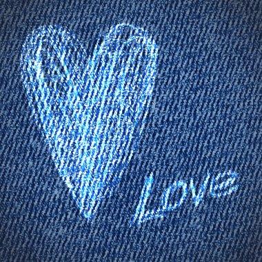 Valentine jeans grunge heart background