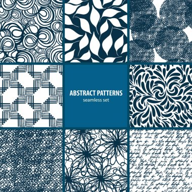 Seamless patterns collection clip art vector