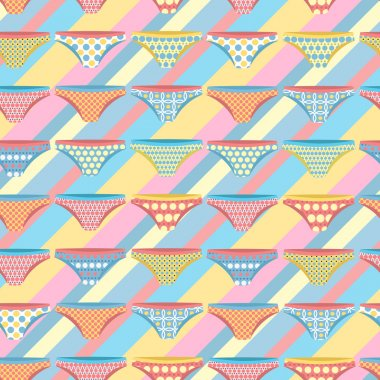 Seamless pattern with stripes and pants