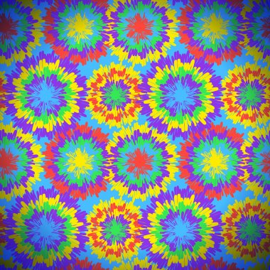Hippie pattern with bright drops
