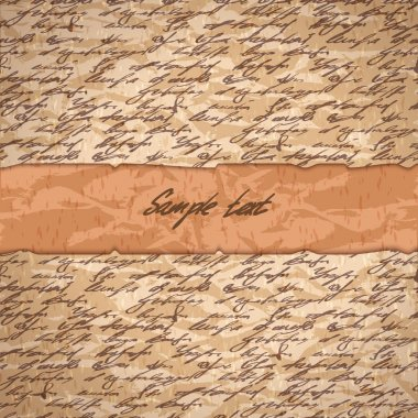 Abstract hand write background for text