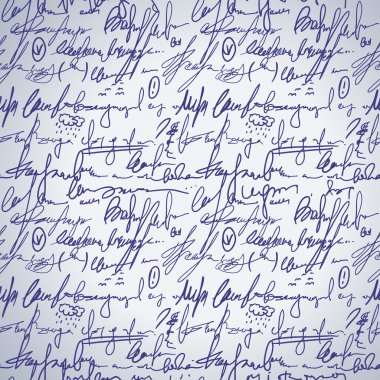 Abstract seamless hand write pattern