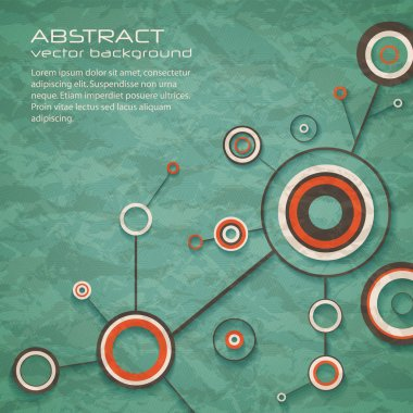 Abstract retro background of science with circles and lines. eps10