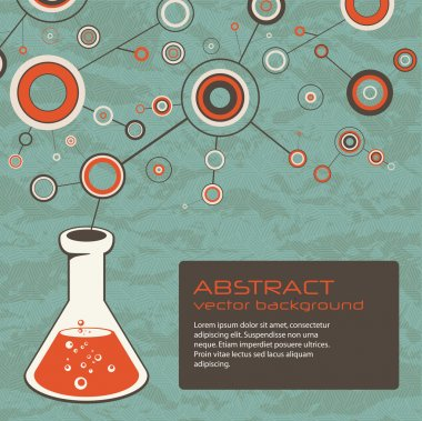 Abstract scientific background with flask