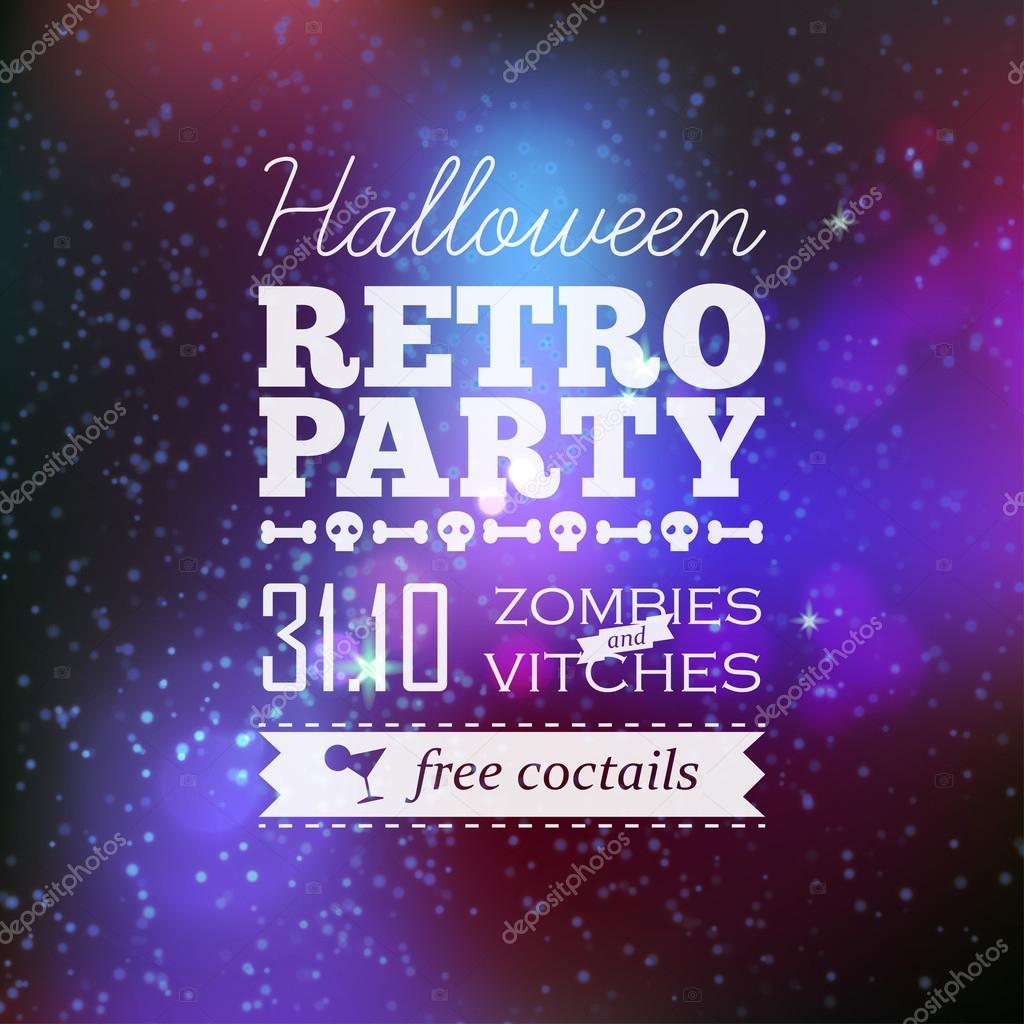 Overnight vector halloween poster