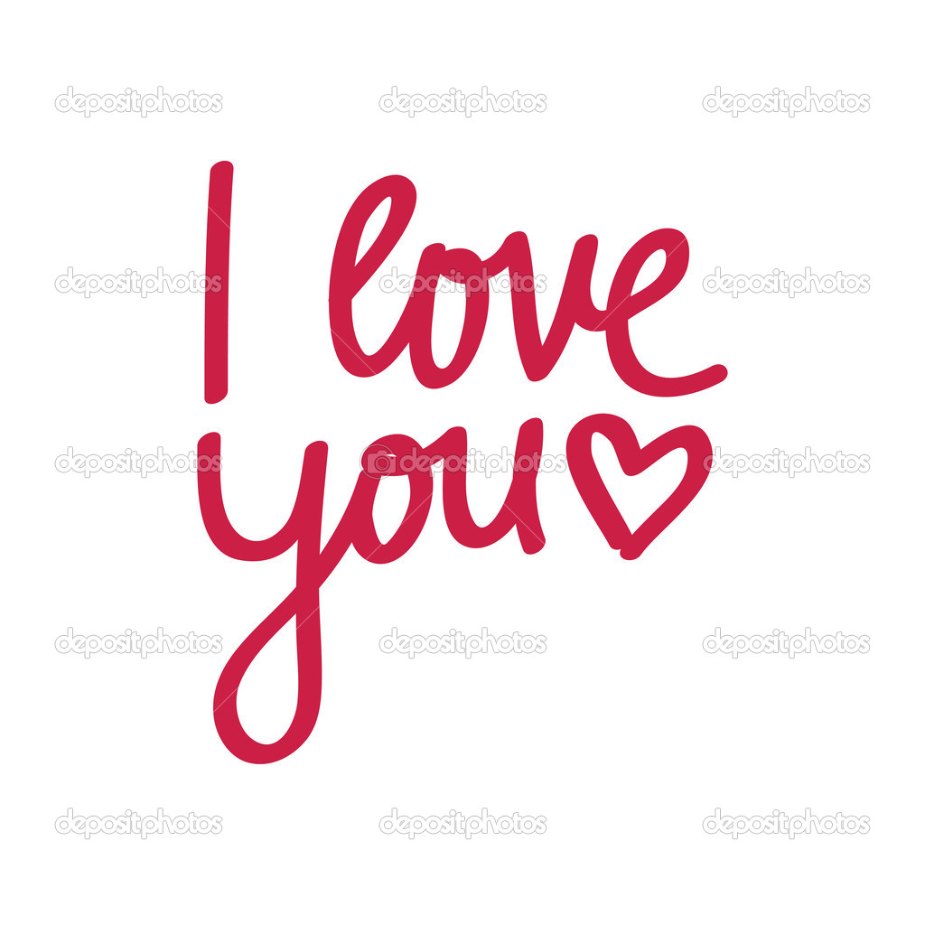 i love you lettering stock vector nina susik 50932789