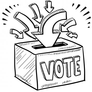 Ballot box voting sketch