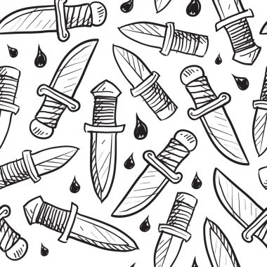 Seamless knife vector background