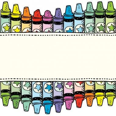 Seamless crayon vector border