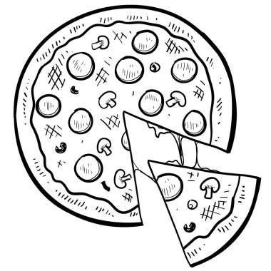 Pizza sketch