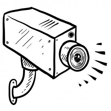 CCTV surveillance camera sketch
