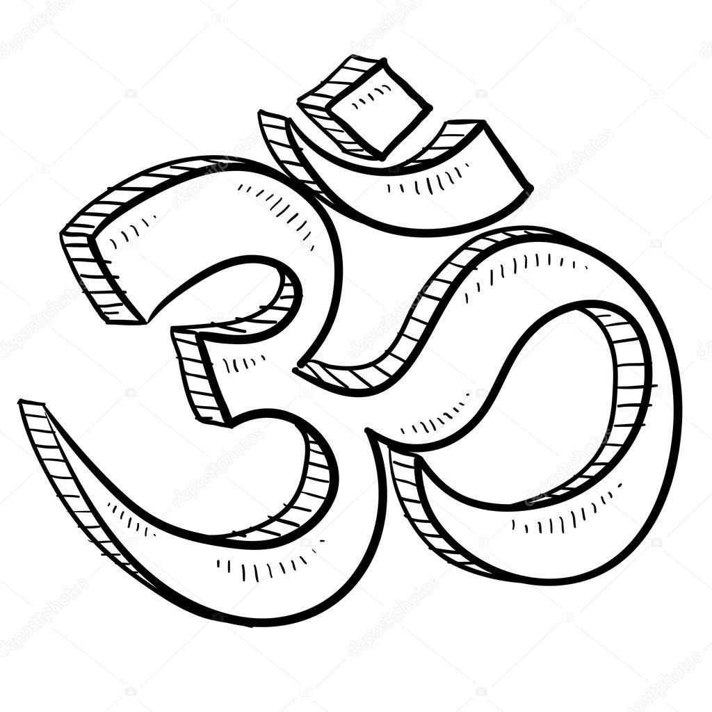 Hindu Om Vector Sketch Stock Vector Lhfgraphics 13922023