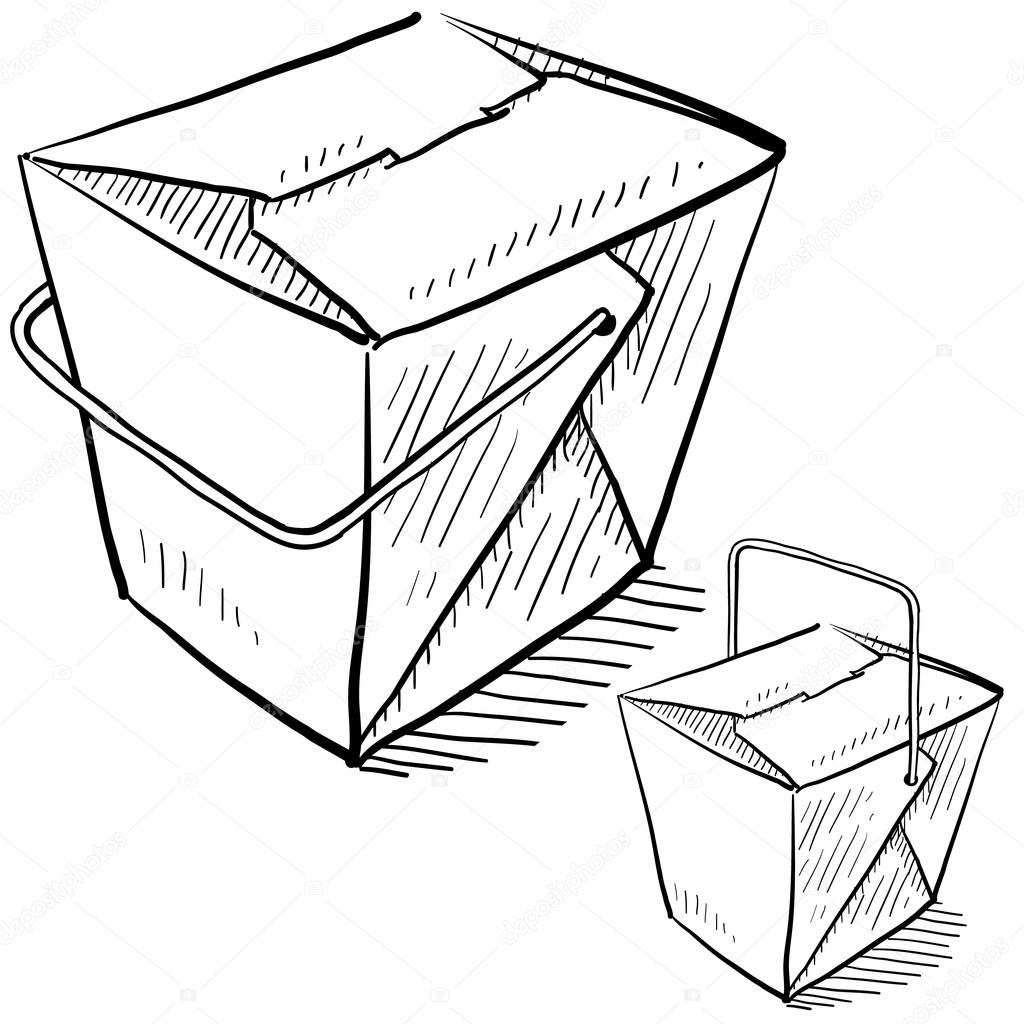How To Draw A Chinese Food Box