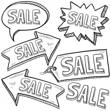 Sale retail icons, tags, and banners