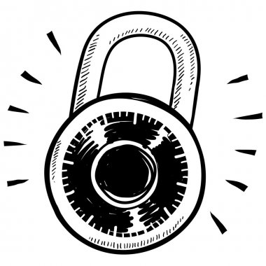 Secure combination lock sketch