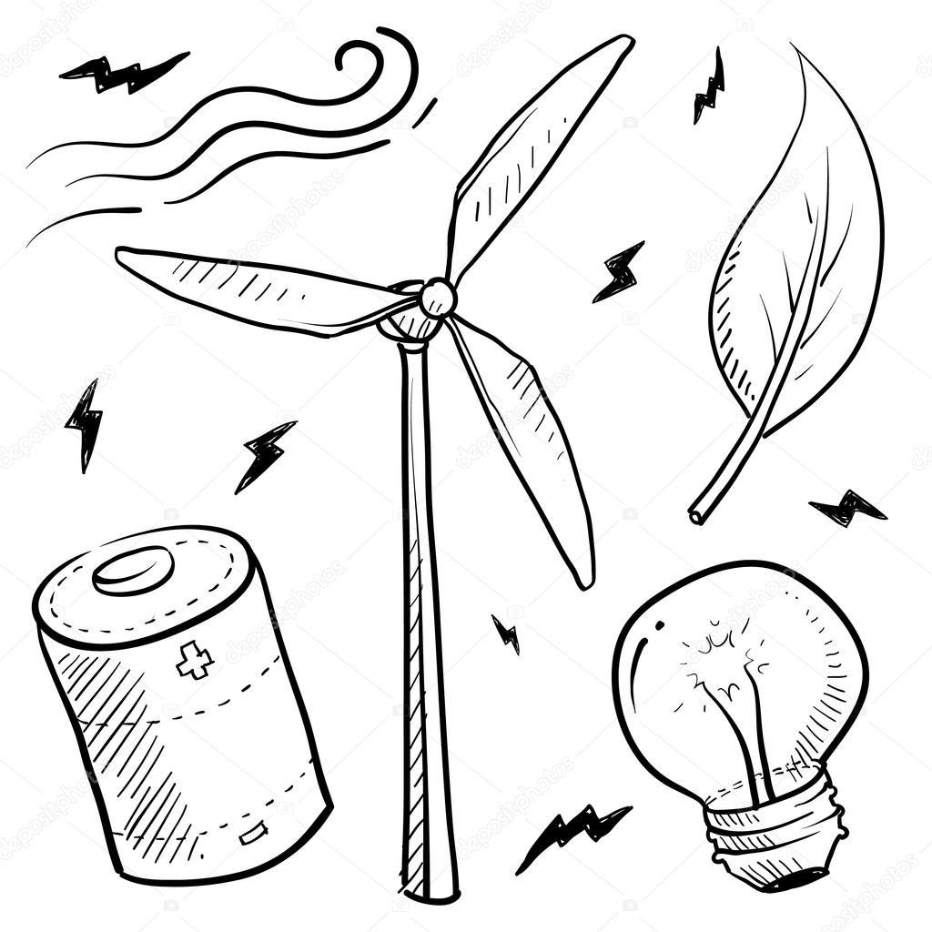 Imágenes Energía Eolica Para Colorear Viento Energía Objetos