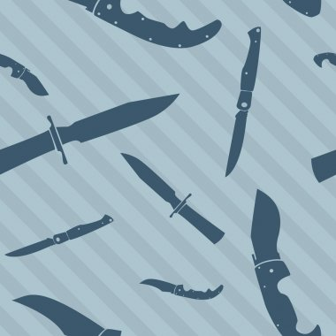 Seamless knife and blade vector background