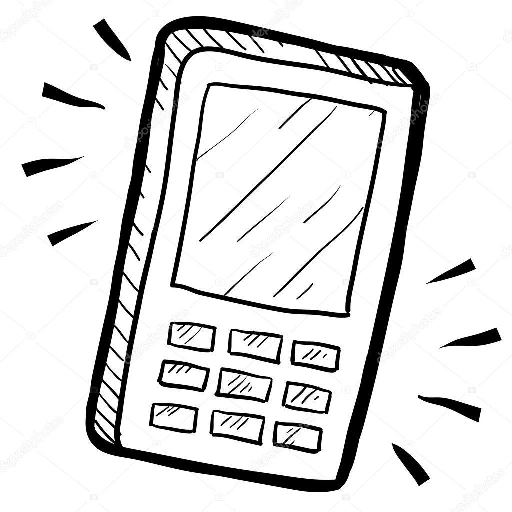 mobile phone sketch  u2014 stock vector  u00a9 lhfgraphics  13981715
