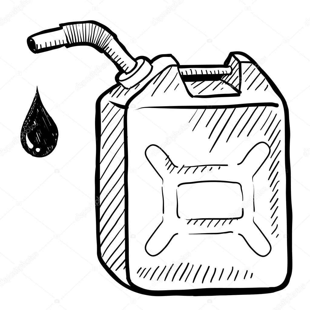 Benzin kann skizzieren — Stockvektor © lhfgraphics #13981717