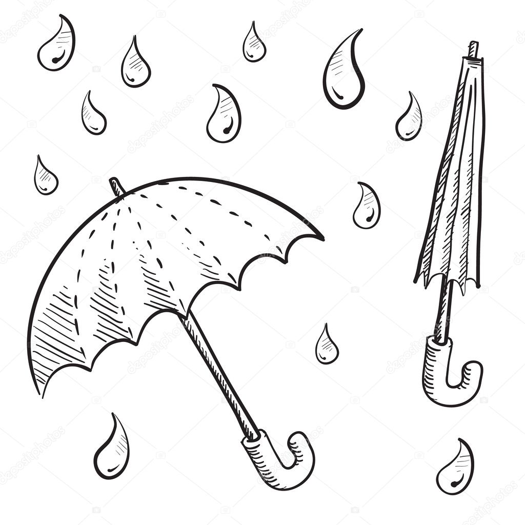 Umbrella Or Parasol Sketch Stock Vector 169 Lhfgraphics
